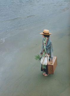 Photo | travel | suit case | water | ocean | sea | adventure | vintage photograph | love