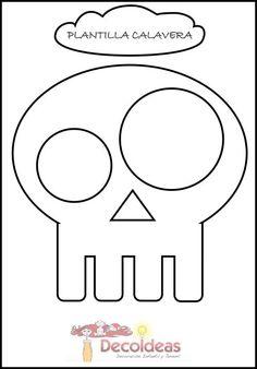 Skull pumpkin carving template  #skull #carving #pumpkin #halloween #template #carvingstencil #freeprintable