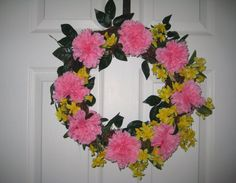 Spring/Summer Wreath Handmade 15 Round by AnjusCreations on Etsy
