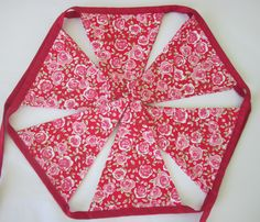 Handmade fabric bunting by Daisychain Quilter.   www.etsy.com/uk/shop/DaisychainQuilter