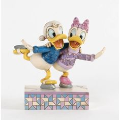 Enesco Donald and Daisy Skating  Christmas Snowmen Holiday Collectibles 4033269ENESCO * Check this awesome product by going to the link at the image. (This is an affiliate link and I receive a commission for the sales)