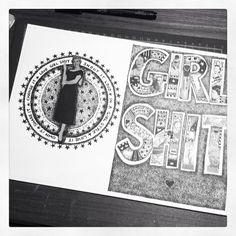 #zine #GIRL SHIT #ink
