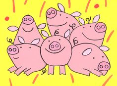 international directory of children's illustrators This Little Piggy, Little Pigs, Explosion Box Tutorial, Pig Pig, Pig Drawing, Teacup Pigs, Pig Illustration, Tamales, Animals Of The World