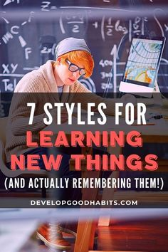 Have you ever struggled to learn something new? People of all ages often have difficulties with learning new things.    And academic topics are not the only thing people struggle to learn. Many adults routinely struggle to pick up new skills at their jobs or just in daily life.     In this article, I'll go over the 7 styles of learning and how to implement this information whenever you want to learn new things in a school setting or even just  pick up that next skill. Home Learning, Learning Resources, Class Activities, Nursing Cheat Sheet, Exam Study Tips, Nursing School Tips, School Sets, Work From Home Tips, Learning Styles