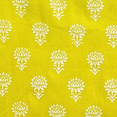 hand printed cotton fabric  White floral motif print by pallavik, $9.50/ beautiful for a summer dress
