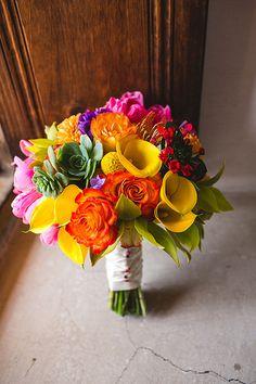 Bouquet for a fiesta wedding Wedding Themes, Wedding Colors, Our Wedding, Dream Wedding, Cake Wedding, Spanish Wedding, Bride Bouquets, Bridal Flowers, Floral Wedding