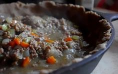 Freezer meal - Plan to Eat - Ground Beef and Sausage Pot Pie - Shannon Nourishing Days