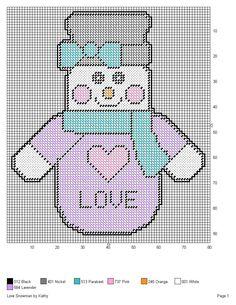 Plastic Canvas Christmas, Plastic Canvas Crafts, Plastic Canvas Patterns, Cross Stitch Charts, Cross Stitch Patterns, Snowman Patterns, Christmas Patterns, Snowman Crafts, Snowmen