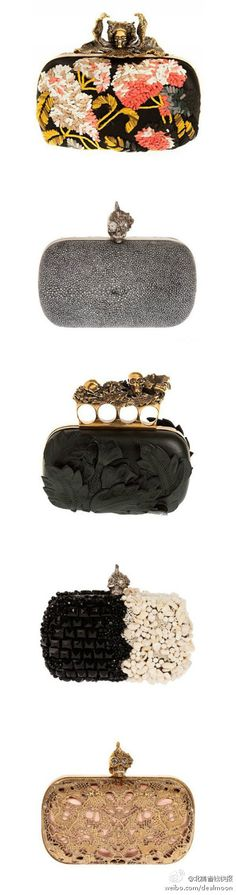 Alexander McQueen Clutch. Not sure what I'd do with them besides display they and admire their beauty.