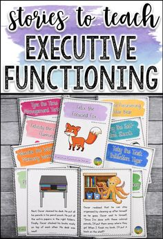 Stories to help with executive functioning. Social Emotional Learning, Social Skills, Social Work, Resource Room Teacher, Special Education Teacher, Teaching Time, Teaching Ideas, Special Needs Students, Executive Functioning