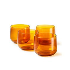 Blown Glasses Amber Set of 4, 63€, now featured on Fab.