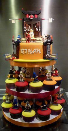 lego ninjago cupcake tower
