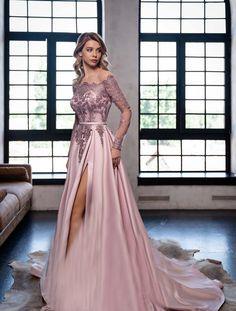 Off Shoulder Evening Dress, Pink Evening Dress, Evening Gowns, Long Evening Dresses, Evening Outfits, Shoulder Dress, Red Long Sleeve Dress, Prom Dresses Long With Sleeves, Dress Long