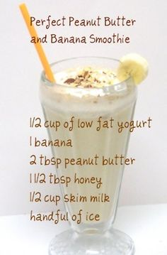 PB banana smoothie this could be good...