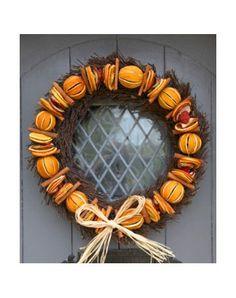 Luxury Orange Christmas Door Wreath