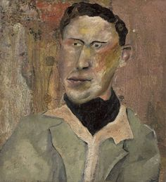 'Man in a Black Cravat' by Lucian Freud, c.1940s