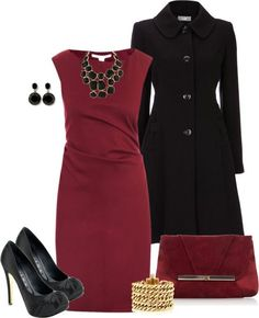 Striking outfit in beautiful color combination for dinner out or a show.