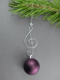 Treble Clef Christmas Tree Ornament Hangers by WireExpressions