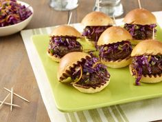 Melissa d'Arabian stretches her dollar by subbing some of the beef for mashed black beans in these kid-sized Beef and Black Bean Sliders.