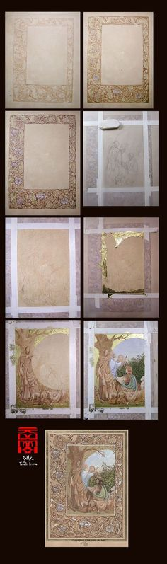 Wow. Timelapse of creating an illuminated border and painting.