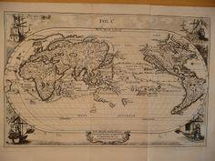 Régi térképek: Világtérkép (1700-as évek eleje) - ELKELT!
