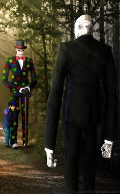 Slender man and splenderman... AWESOME!!!!'