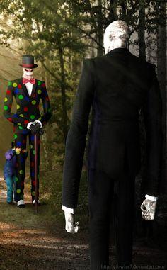 Slender man and splenderman... AWESOME!!!!'