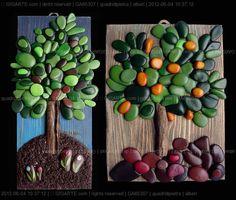 disponibile solo l'albero di sinistra - l'arancino è stato venduto. Each creation is a unique piece made and hand painted. I often work on ...