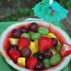 Hawaiian Luau Party | Hawaiian Fruit Bowl | Hawaiian Luau Party Ideas - PartySavvy ...