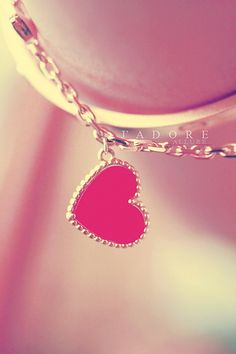 #love #fashion #necklace #pink