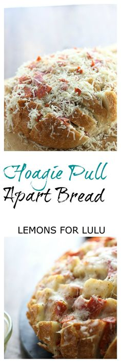 All the best part of a hoagie sandwich stuffed into a cheesy pull apart bread! lemonsforlulu.com ~ http://www.lemonsforlulu.com