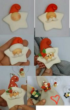 66 Trendy Diy Christmas Ornaments Clay FimoYou can find Polymer clay ornaments and more on our Trendy Diy Christmas Ornaments Clay Fimo Cute Christmas Cookies, Polymer Clay Christmas, Diy Christmas Ornaments, Christmas Projects, Holiday Crafts, Christmas Decorations, Polymer Clay Ornaments, Cute Polymer Clay, Polymer Clay Projects