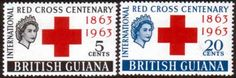 British Guiana 1963 Red Cross Centenary Fine Mint SG 350 1 Scott 272 3 Other Red Cross Stamps HERE