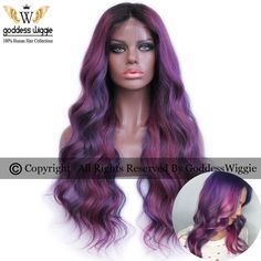 Find More Human Wigs Information about 5A 150Density Glueless Balayage Style Front Lace Human Hair Wig Pink Purple Musical Ombre Lace Front Wigs With Baby Hair,High Quality wig headband,China wig head Suppliers, Cheap wig rose from Goddess Wiggie OnLine No2 Store on Aliexpress.com