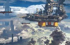 Paul Chadeisson is a French concept designer who creates exquisite futuristic urban environments.