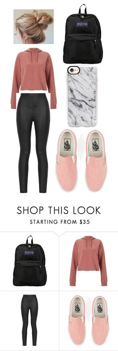 """""""Last Day of School"""" by bethany-franco on Polyvore featuring JanSport, Miss Selfridge, Armani Jeans, Vans, Casetify, school, messy and fashionable"""