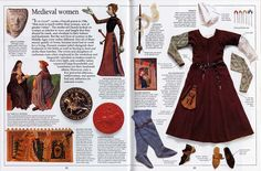 Hah. I even have this book - from my childhood! Show wardrobe, including contrast pin-on sleeves for kirtle