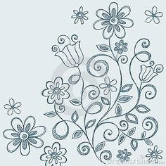 doodles | Flowers Sketchy Notebook Doodles Royalty Free Stock Image - Image ...