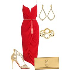 """lady in red"" by ngaere-sweat on Polyvore"
