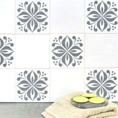 Mibo Tile Tattoos in Ventor Smoky Truffle on Clear or White