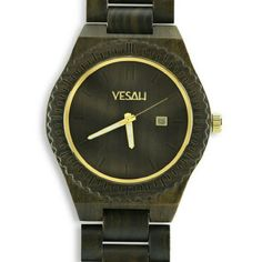 "Yesah Limited Edition ""Bear"" Gold Watch Gorgeous, limited edition, adjustable watch made from  trees in the woods of the Great Smoky Mountains of Tennessee!  I Christmas shopped early this year, and purchased this for my boyfriend. Only problem is.. we broke up!  So here I am. I would wear it myself but it's in Men's sizing. Absolutely perfect condition and original packaging!! Thank you :) Accessories Watches"