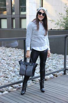 Leather Pants /nichole.nyc/