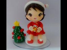 Enfeite de árvore de Natal em biscuit! - YouTube