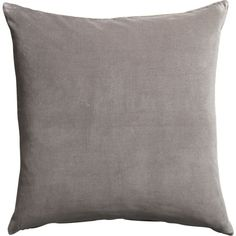"""leisure grey 23"""" pillow with down-alternative insert 