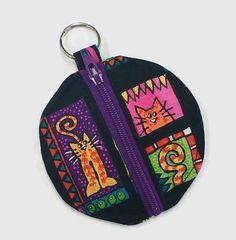 Black cat earbud pouch black cat coin purse cat chapstick