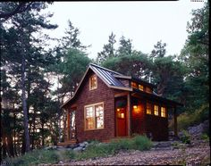 Just too cute... steel roof, shingles, dormer, porch