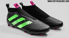 aa2ff35ad Black   Solar Green Adidas Ace 16+ PureControl Boots Leaked - Footy  Headlines Adidas Csukák