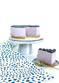 Bosbessen kwarktaart Healthy Cheesecake, Healthy Cake, Healthy Baking, Healthy Food, Healthy Pastry Recipe, Pastry Recipes, Fruit Recipes, Brownie Recipes, Cake Recipes