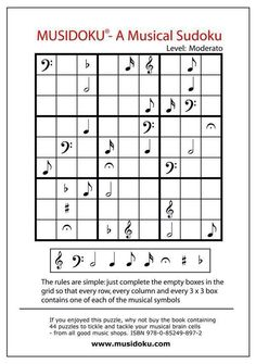 Music and sudoku