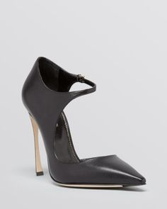 Sergio Rossi Pointed Toe Ankle Strap Pumps - Sherazade Mary Jane High Heel   Bloomingdales's